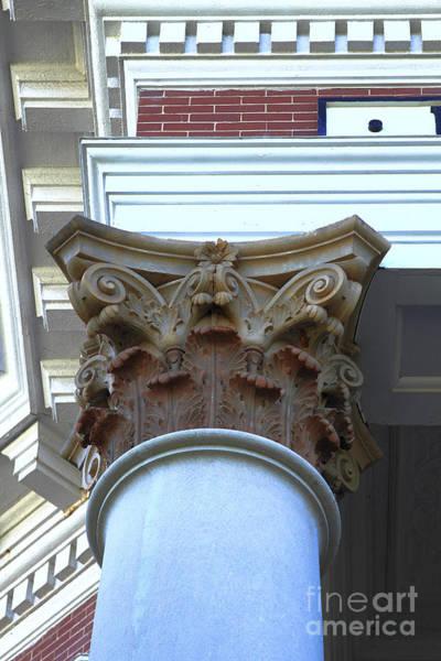 Photograph - Architecture Column Madison Ga Court House by Reid Callaway