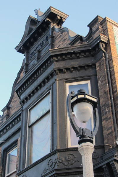 Photograph - Architecture Detail With Street Lamp by Anita Burgermeister