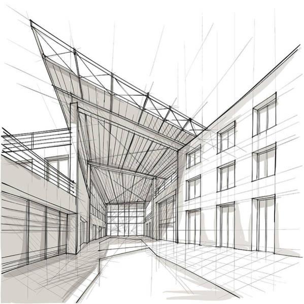 Exterior Digital Art - Architecture by Sireanko
