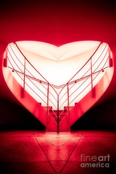Photograph - architecture's valentine - redI by Hannes Cmarits