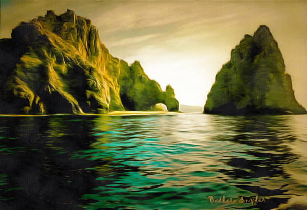 Cabo San Lucas Arch Wall Art - Painting - Archway At Cabo Digital by Barbara Snyder