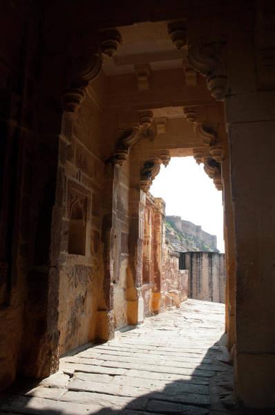 Singh Wall Art - Photograph - Archway, Mehrangarh Fort, Jodhpur by Inger Hogstrom