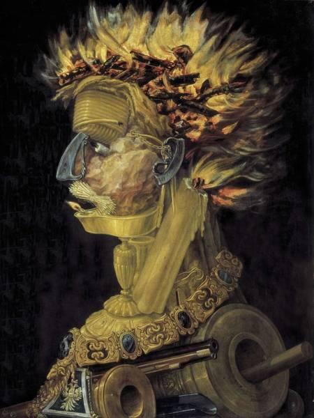 1566 Photograph - Arcimboldo, Giuseppe 1527-1593. Fire by Everett