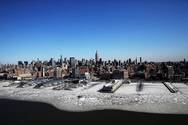 Ice Floe Photograph - Arctic Cold Weather Chills New York City by Spencer Platt