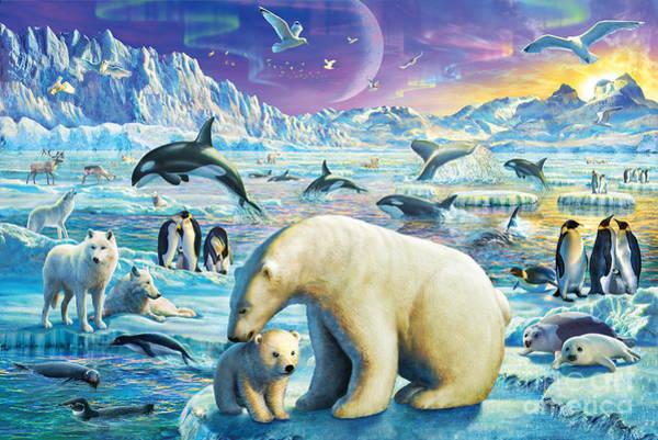 Nordic Digital Art - Arctic Night by MGL Meiklejohn Graphics Licensing