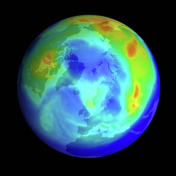 Ozone Layer Photograph - Arctic Ozone Hole by Nasa/science Photo Library