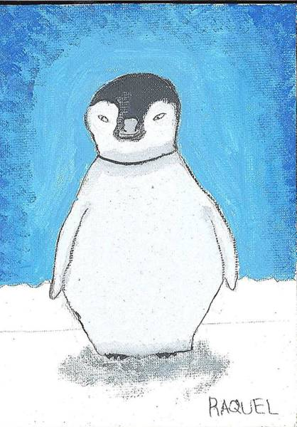 Painting - Arctic Penguin by Fred Hanna