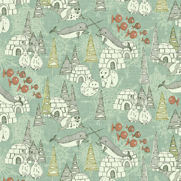Wall Art - Painting - Arctic Retro Pattern by MGL Meiklejohn Graphics Licensing