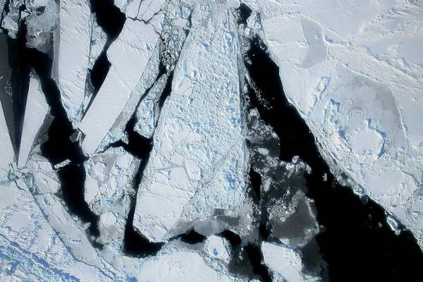 Ice Floe Photograph - Arctic Sea Ice At Lowest Maximum by Nasa/operation Ice Bridge