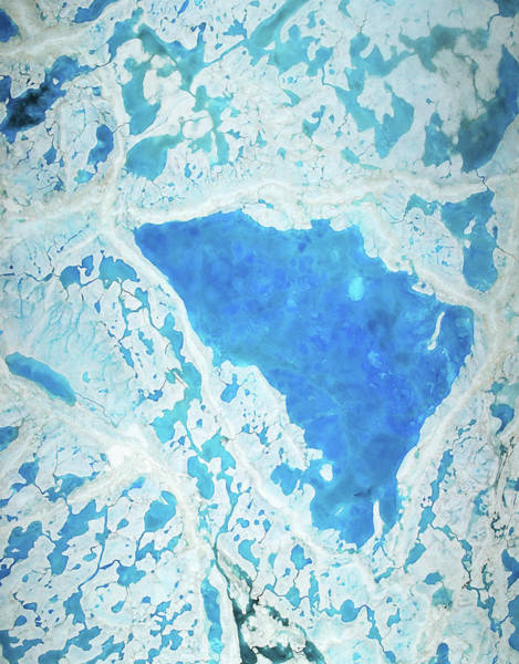 Wall Art - Photograph - Arctic Sea Ice Melt Water Pools by Operation Icebridge/nasa/science Photo Library