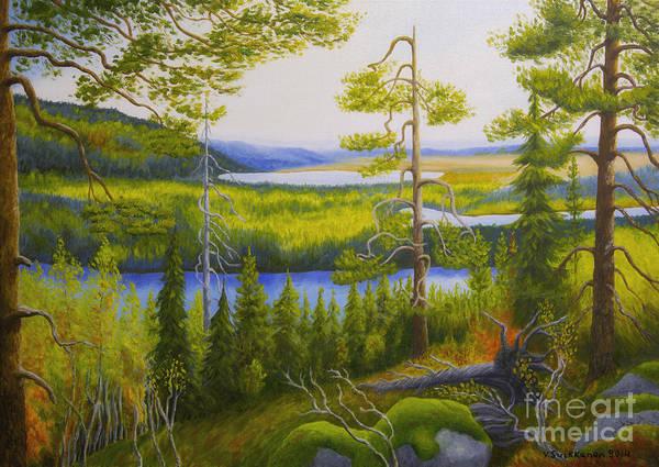 Mossy Wall Art - Painting - Arctic Wilderness by Veikko Suikkanen
