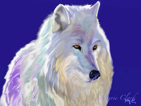Arctic Wolf Painting - Arctic Wolf by Marie Clark