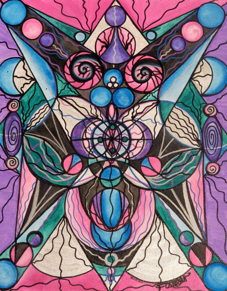 Mandala Wall Art - Painting - Arcturian Healing Lattice  by Teal Eye Print Store