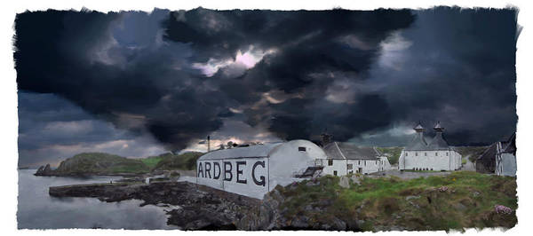 Whiskey Mixed Media - Ardbeg The Storm Is Coming by Ian Gray
