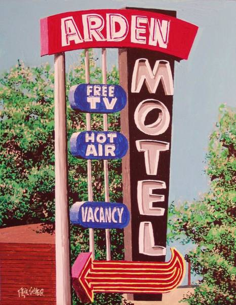 Arden Motel Art Print by Paul Guyer