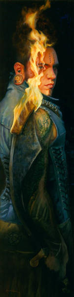 Flaming Sword Painting - Ardens by Rose Adare