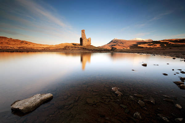 Photograph - Ardvreck Castle Sunrise by Grant Glendinning