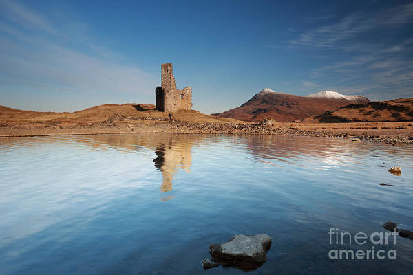 Photograph - Ardvreck Castle Sunrise by Maria Gaellman