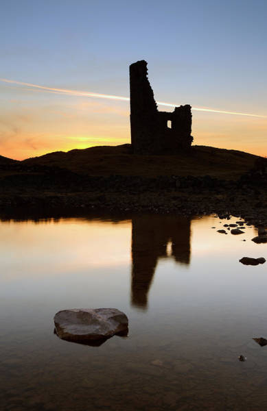 Photograph - Ardvreck Castle Sunset by Grant Glendinning