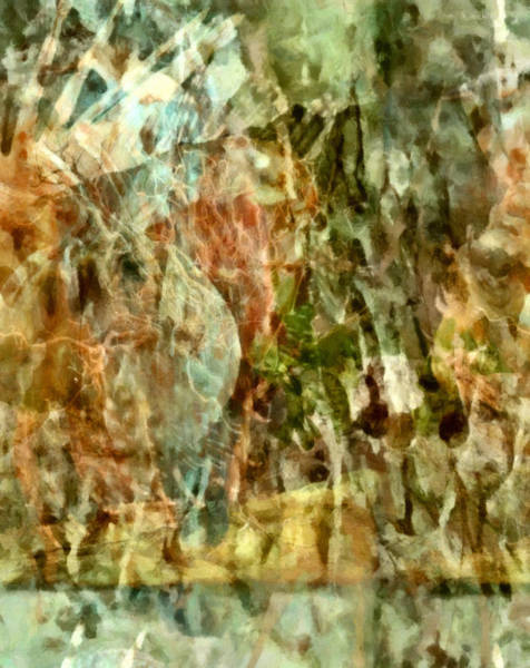 Non Representational Painting - Are Things What They Seem - Philosophical Abstract by Georgiana Romanovna