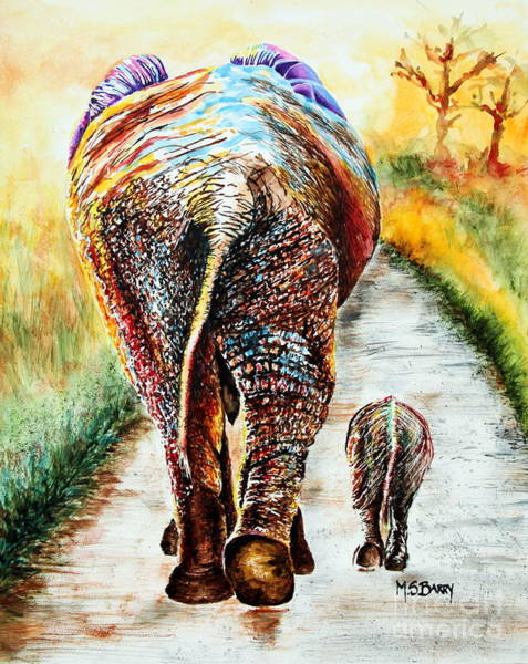 Painting - Are We There Yet? by Maria Barry