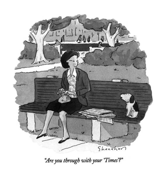 May 8th Drawing - Are You Through With Your 'times'? by Danny Shanahan