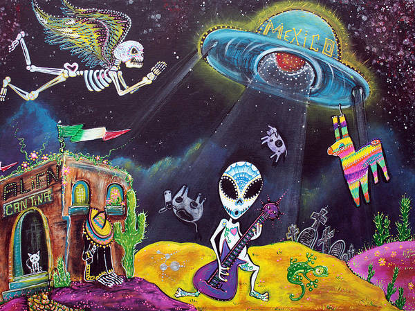 Wall Art - Painting - Area 54 by Laura Barbosa