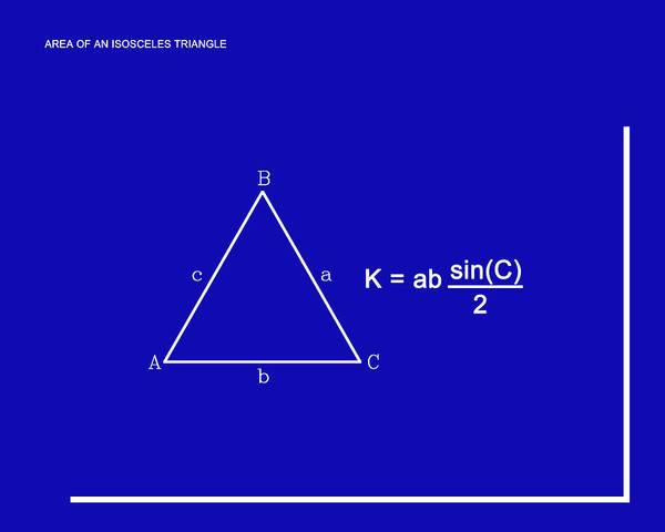 Digital Art - Area Of An Isosceles Triangle Dk Blue/wht by Paulette B Wright