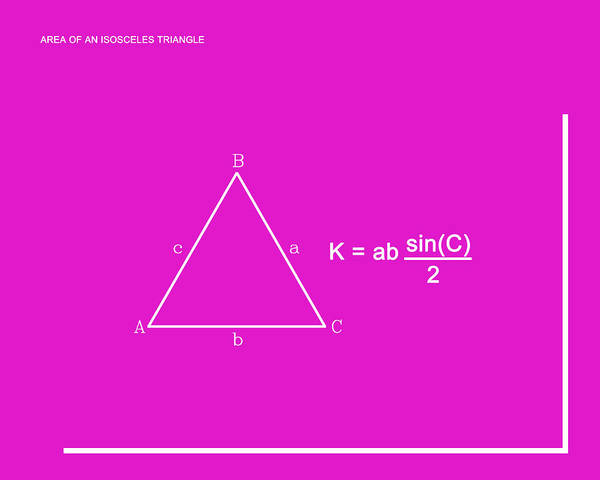Digital Art - Area Of An Isosceles Triangle Hot Pink/white by Paulette B Wright