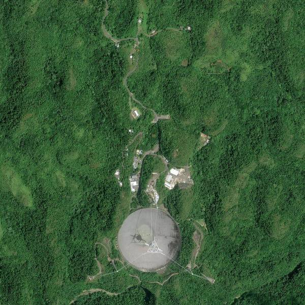 Puerto Rican Photograph - Arecibo Observatory by Geoeye/science Photo Library