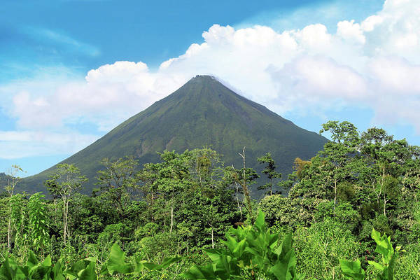 Altitude Photograph - Arenal Volcano, Arenal Volcano National by Miva Stock