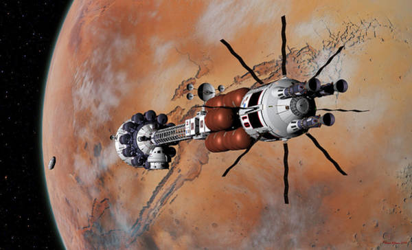 Digital Art - Ares1 Within Range For Rendezvous by David Robinson