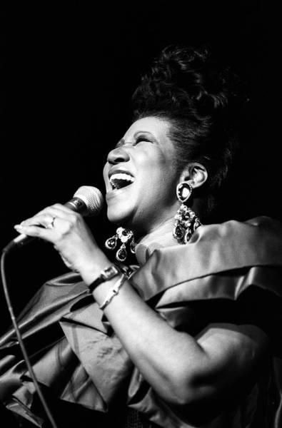 Radio City Music Hall Photograph - Aretha Franklin In Concert by Al Pereira