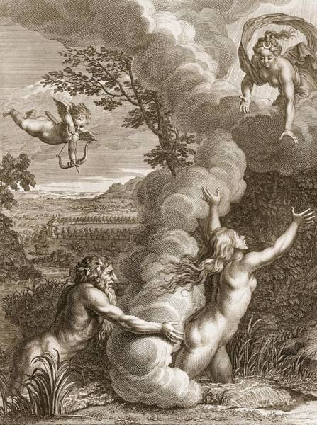 Nymph Drawing - Arethusa Pursued By Alpheus And Turned by Bernard Picart