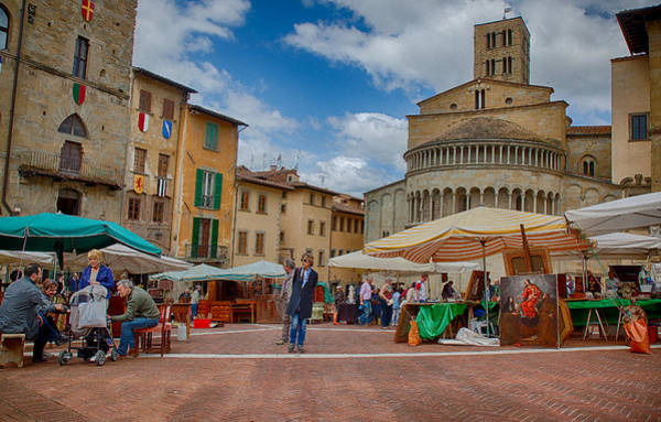 Photograph - Arezzo Market Day by Uri Baruch