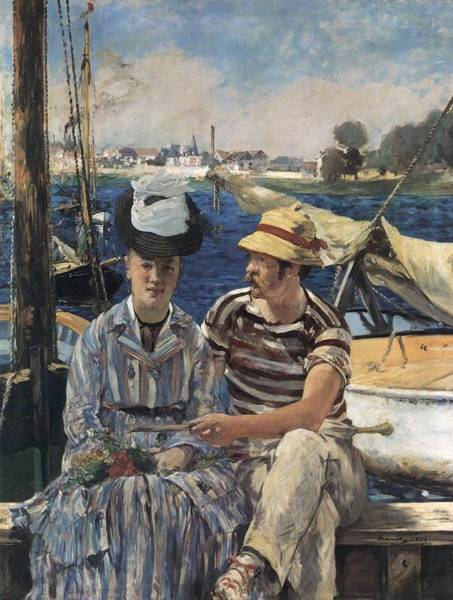Wall Art - Painting - Argenteuil by Edouard Manet