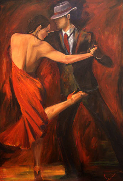 Dining Room Painting - Argentine Tango by Sheri  Chakamian