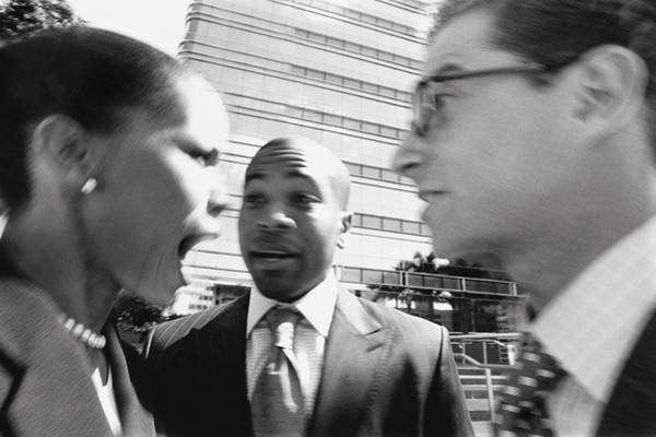 Arguing Business People Art Print by Digital Vision.