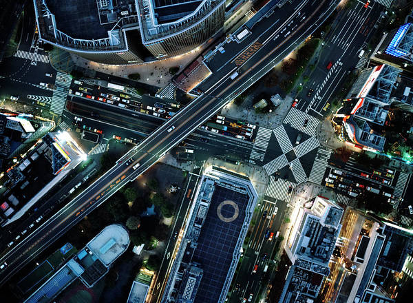 Vitality Photograph - Ariel View Tokyo At Night by Michael H