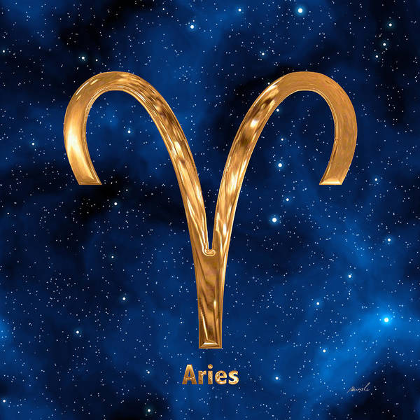 Signs Of The Zodiac Painting - Aries by The Art of Marsha Charlebois