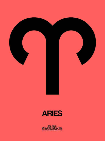 Taurus Digital Art - Aries Zodiac Sign Black by Naxart Studio