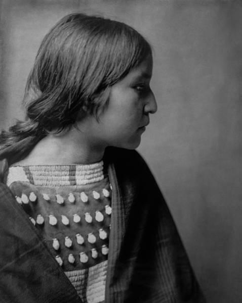 Tribal Woman Wall Art - Photograph - Arikara Girl Circa 1903 by Aged Pixel