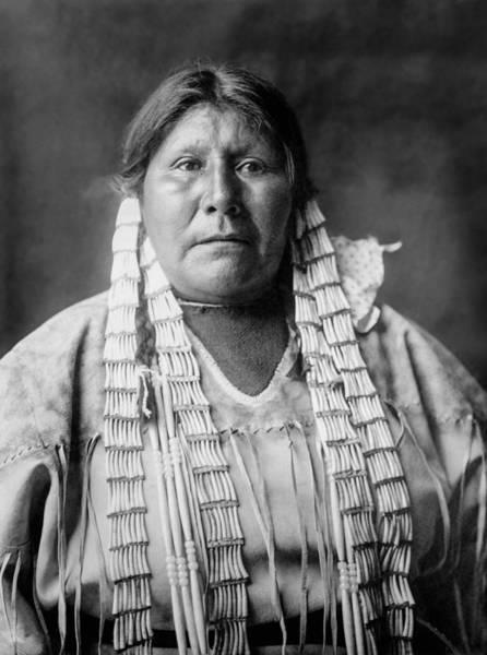 Tribal Woman Wall Art - Photograph - Arikara Woman Circa 1908 by Aged Pixel