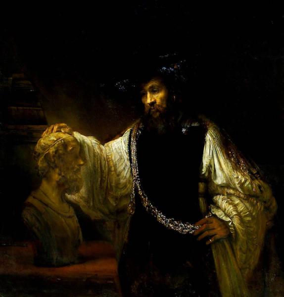 Aristotle Contemplating A Bust Of Homer Art Print