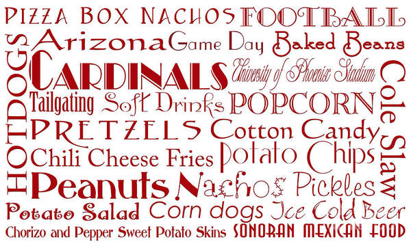 Digital Art - Arizona Cardinals Game Day Food 1 by Andee Design