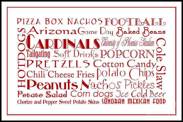 Digital Art - Arizona Cardinals Game Day Food 3 by Andee Design