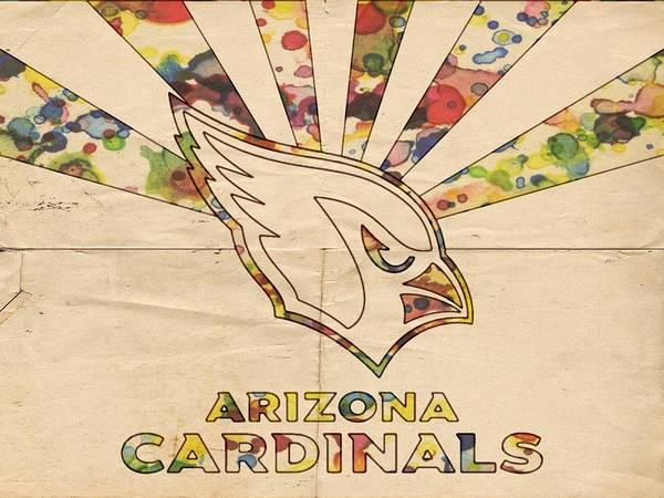 Painting - Arizona Cardinals Poster Colors by Florian Rodarte