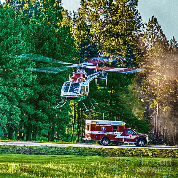 Photograph - Arizona Happy Jack Lifeflight by Bob and Nadine Johnston