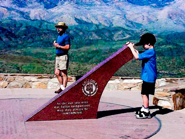 Photograph - Arizona Highway Patrol Memorial by Bob and Nadine Johnston