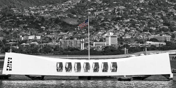 Uss Arizona Wall Art - Photograph - Arizona Memorial by Mitch Cat